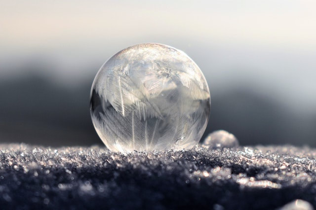 frozen water bubble